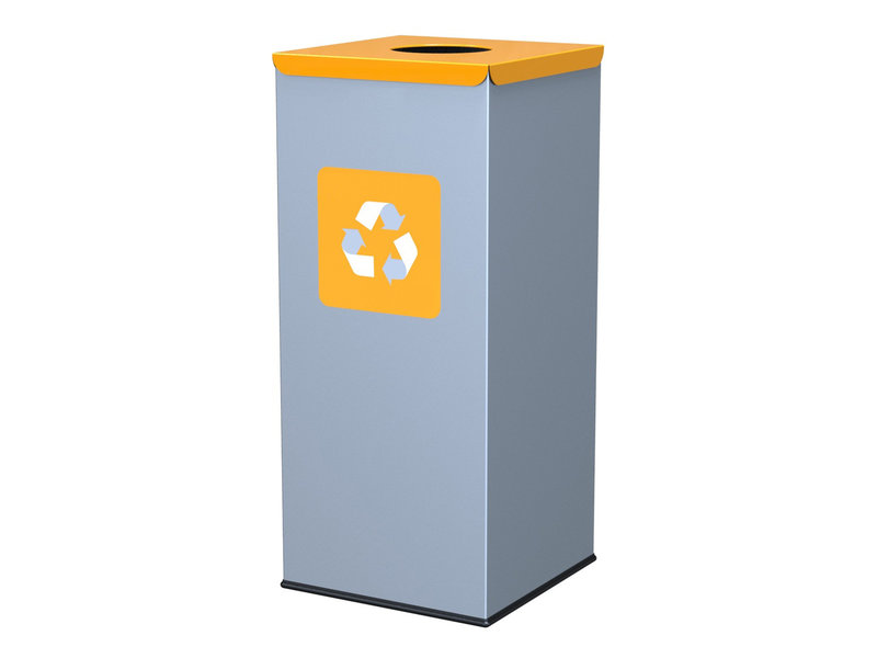 Alda Eco Square Bin 60L - Yellow
