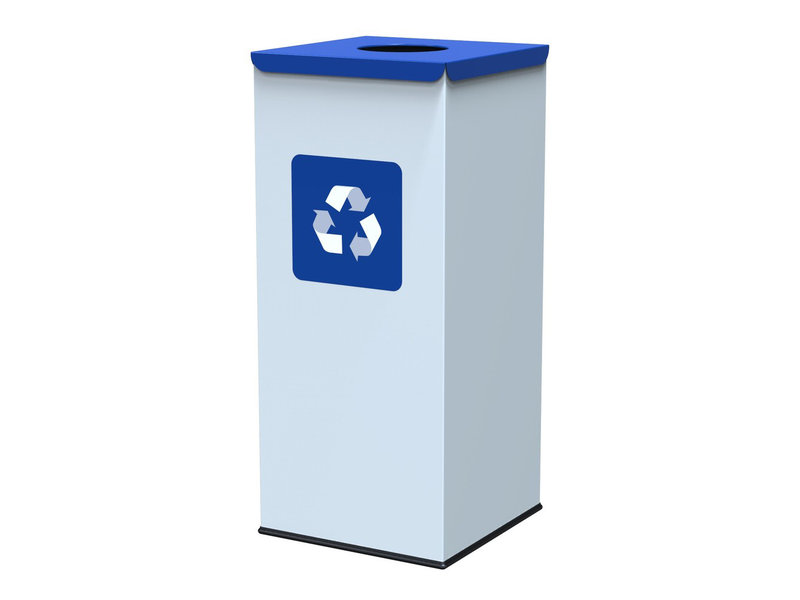 Alda Eco Square Nord White Bin 60L - Blue