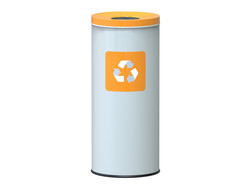 Alda Eco Nord White Bin 45L - Yellow