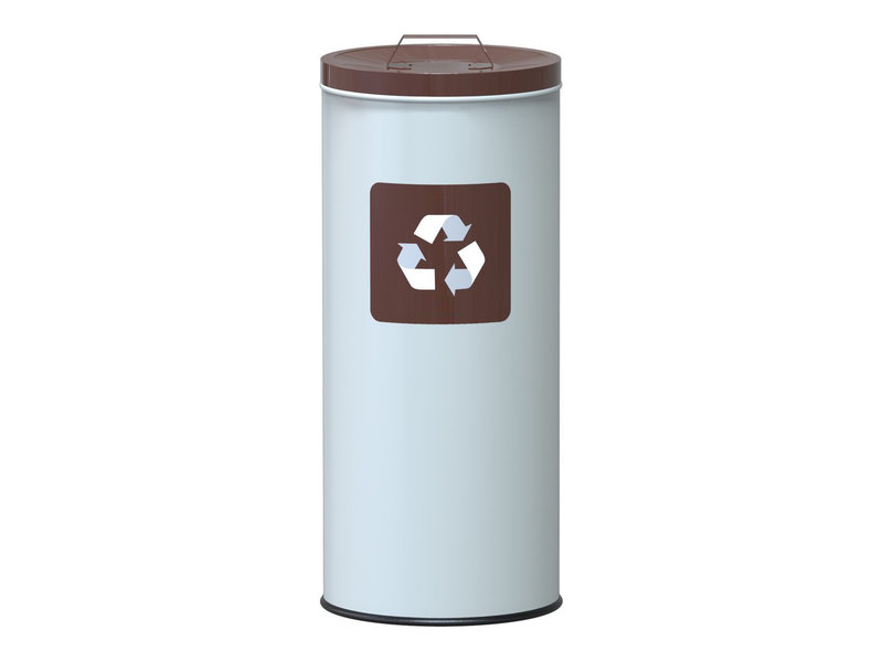 Alda Eco Nord White Bin 45L Lid - Brown