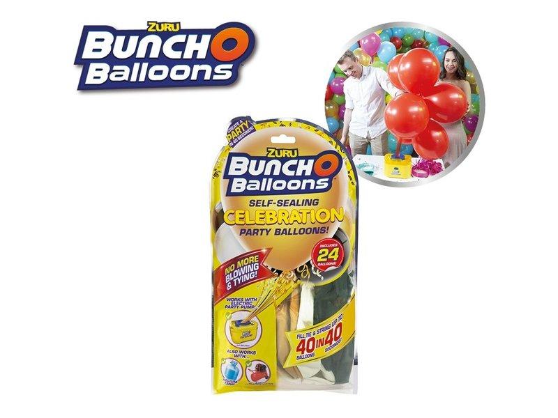 Bunch O Balloons Bag - 24 Balloons Black-Gold-White
