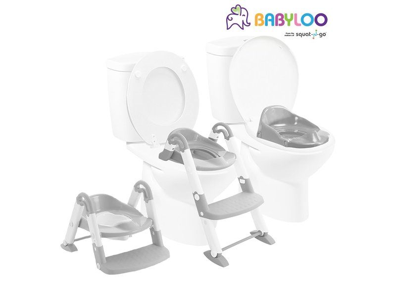 Babyloo Bambino Boost 3-in-1 Training Seat - Grey/White