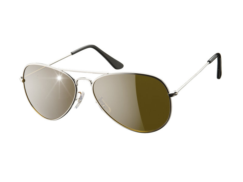 Eagle Eyes Aviator Sunglasses set of 2 - Silver