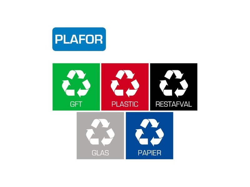 Plafor Bin Sticker Set of 5pcs