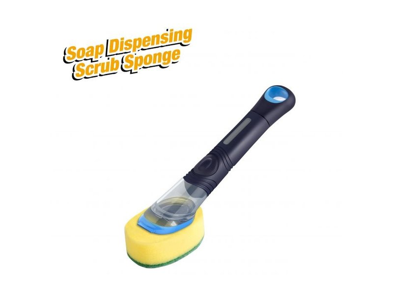Soap Dispensing Brush - Sponge with Scrubber