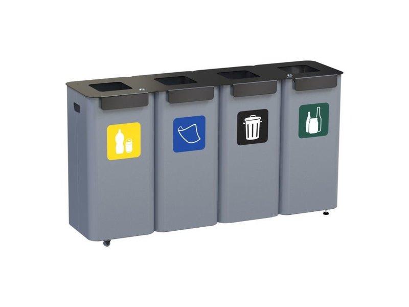 ALDA - Eco Modular Bin 4x70L - Green - Blue - Yellow - Black