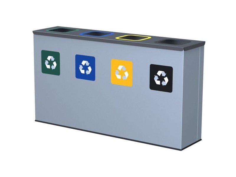 ALDA - Eco Station Bin 4x30L - Green - Blue - Yellow - Black