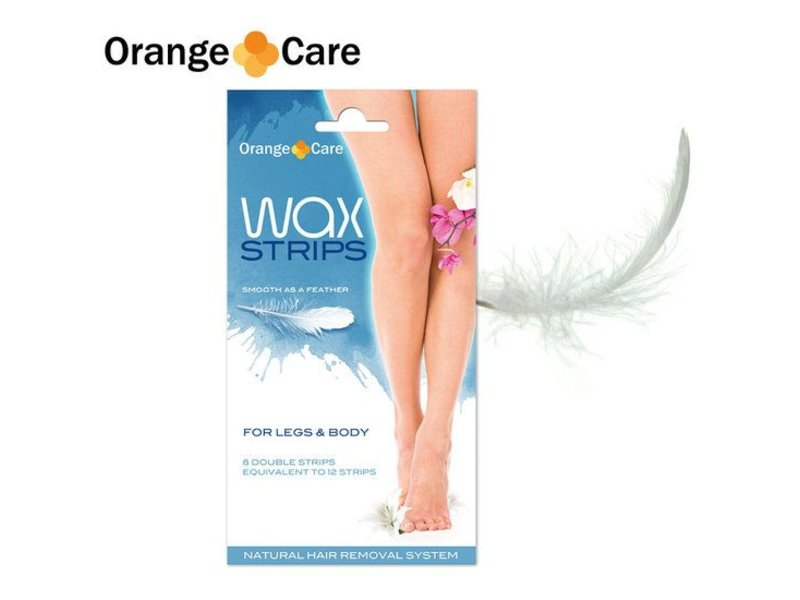 Orange Care Wax Strips Legs & Body