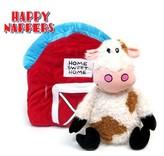 Happy Nappers Knuffelkussen Koe