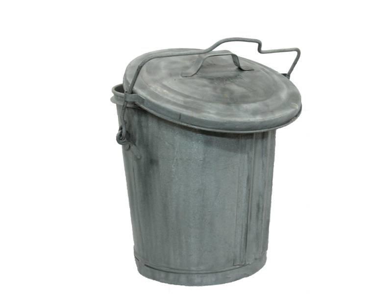 Zinken Vuilnisemmer Ouderwetse Kwaliteit 55 liter