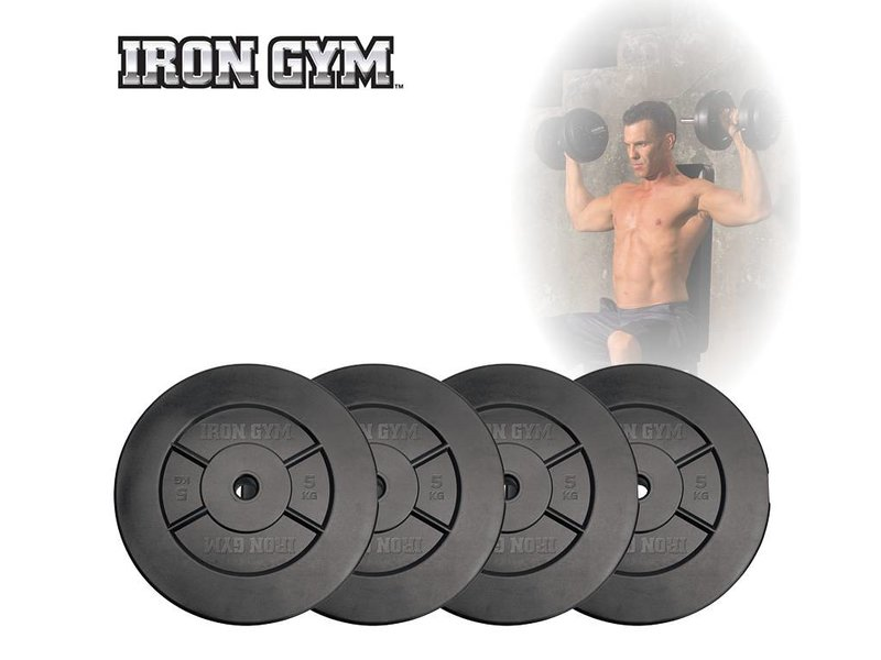 Iron Gym 20kg Plate Set, 5kg x 4