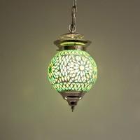 Hanglamp bol 15cm groen mozaïek