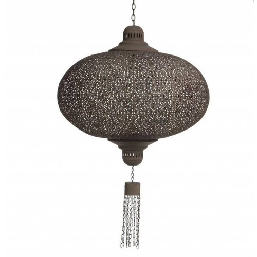 Oriëntaalse hanglamp roest Bruine kleur ø50cm