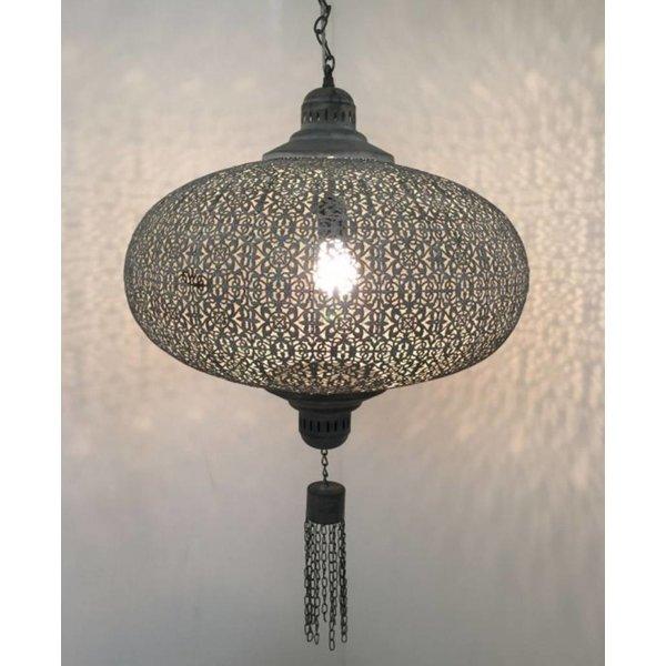 Grote filigrain hanglamp Roest Bruin kleur