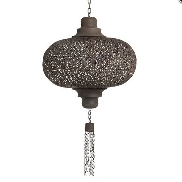Kleine filigrain hanglamp Roest Bruine kleur