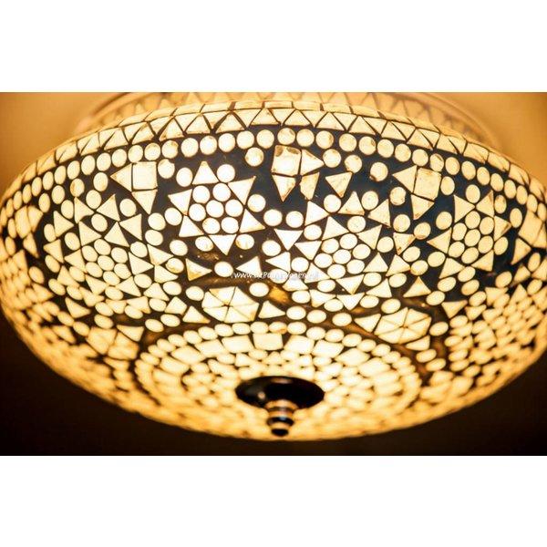 Plafondlamp 25cm transparant mozaïek - in 3 diameters