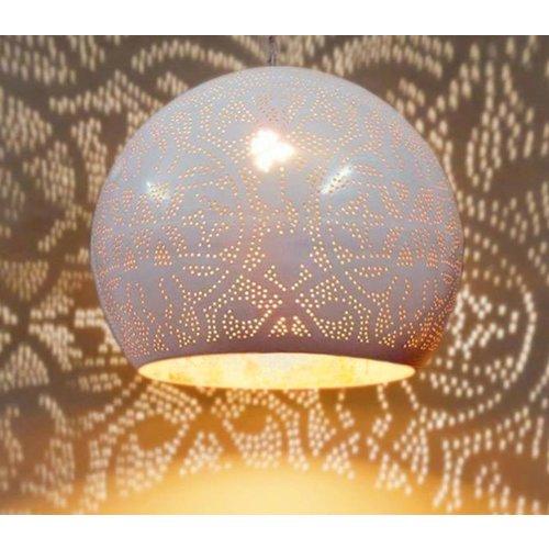 Hanglamp Ameera wit/goud bol - in 2 diameters verkrijgbaar