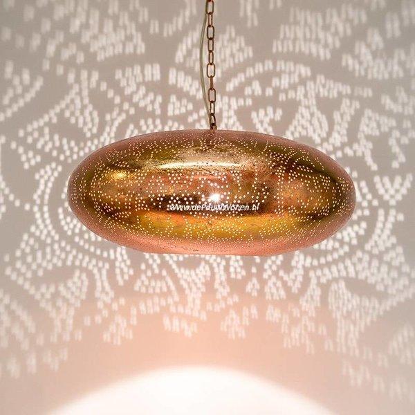 Hanglamp Ameera koper elipse
