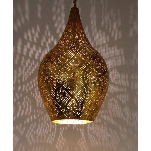 Hanglamp Ameera goud vaas
