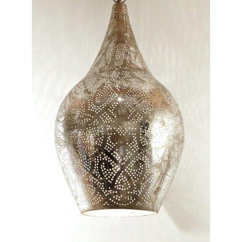 Hanglamp Ameera zilver vaas