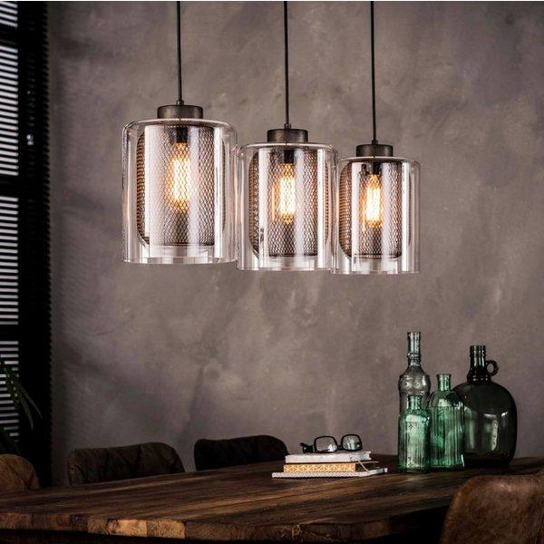 Geliefde Hanglamp 3xØ20 raster glas - dePauwWonen ZA23