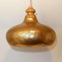 Filigrain hanglamp groot vintage goud