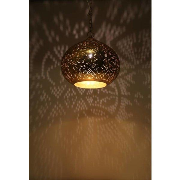 Filigrain hanglamp koper kleur