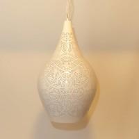 Filigrain hanglamp vaas wit/goud