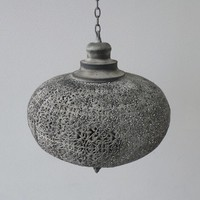 Orientaalse filigrain hanglamp mystiek grijs