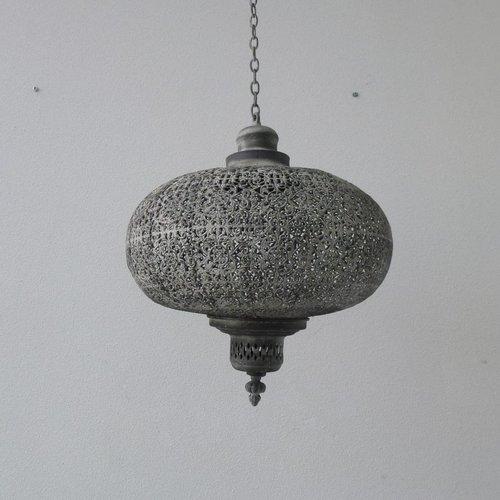 Orientaalse hanglamp grijs in 3 maten