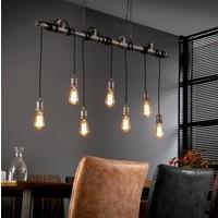Hanglamp industrieel 7 lichts + 7 led gloeilampen cadeau
