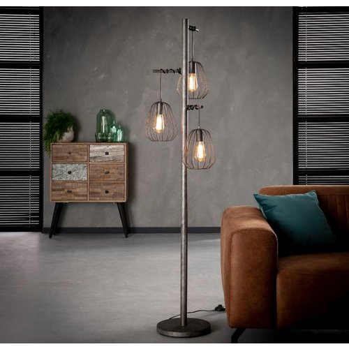 Vintage vloerlamp 3L lampoon + 3 led gloeilampen cadeau