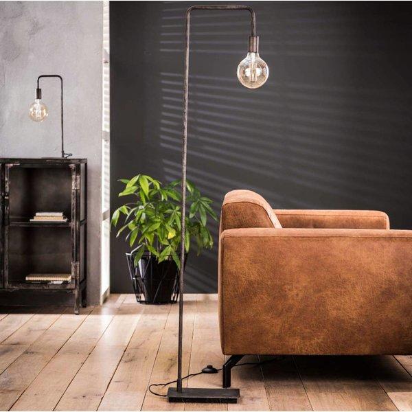 Industriele vloerlamp Cristina + led gloeilamp cadeau