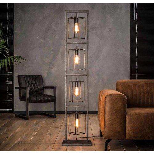 Industrieel vloerlamp 4x cubic tower