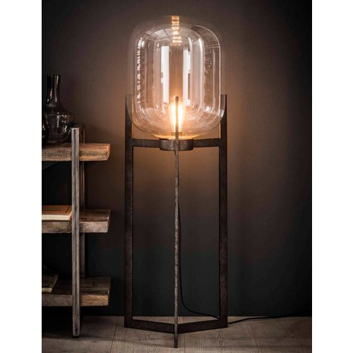 Industriele vloerlamp glas support