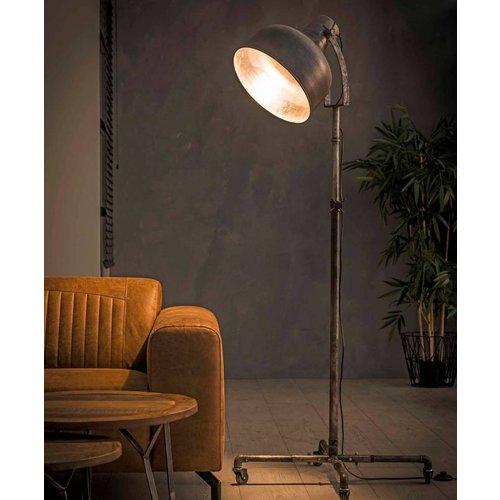 Vloerlamp industry op wieltjes + led gloeilamp cadeau