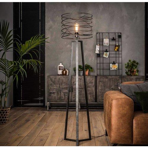 Industrieel vloerlamp Ø40 curl + led gloeilamp cadeau