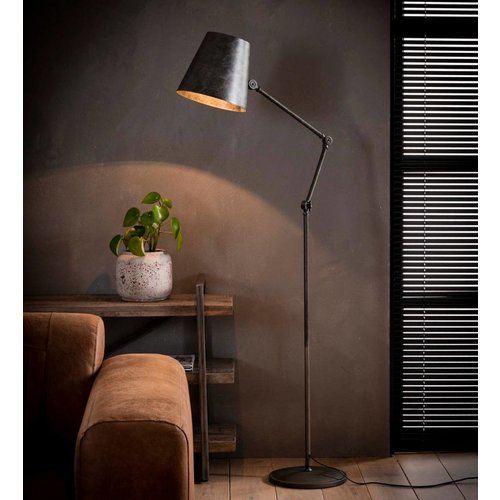 Industrieel vloerlamp Chester + led gloeilamp cadeau