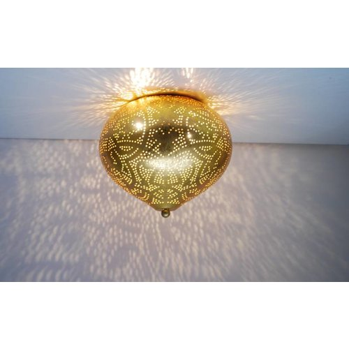 Oosterse plafondlamp filigrain goud