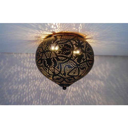 Plafondlamp Ameera zwart/goud union
