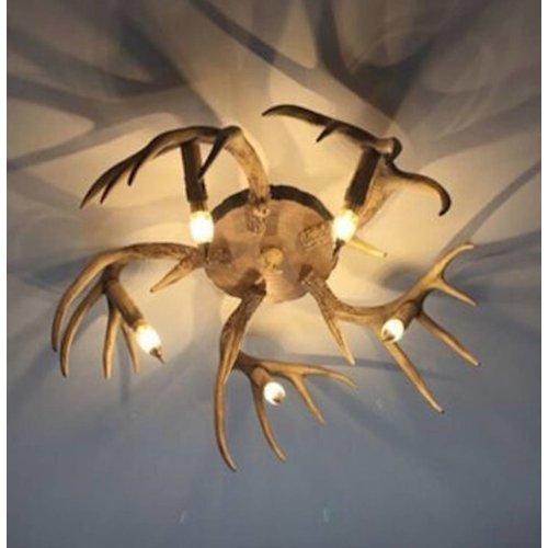Plafondlamp Gewei - 5 lichts