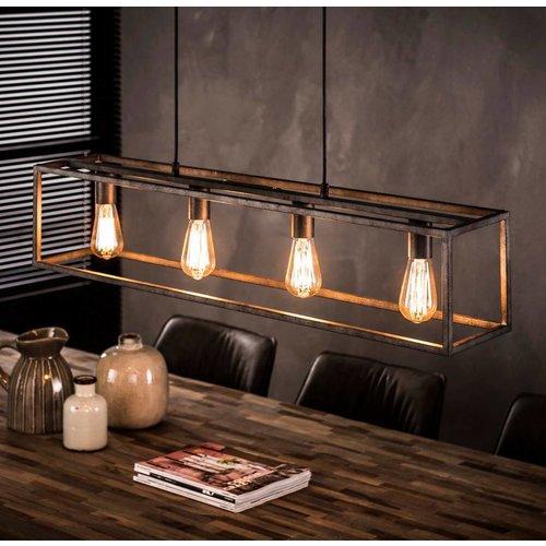 Industrieel hanglamp 4L cubic + 4 led gloeilampen cadeau