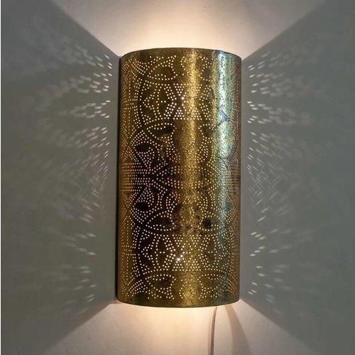Oosterse wandlamp filigrain goud