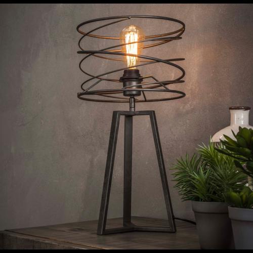 Industriele tafellamp Ø27 curl + led gloeilamp cadeau