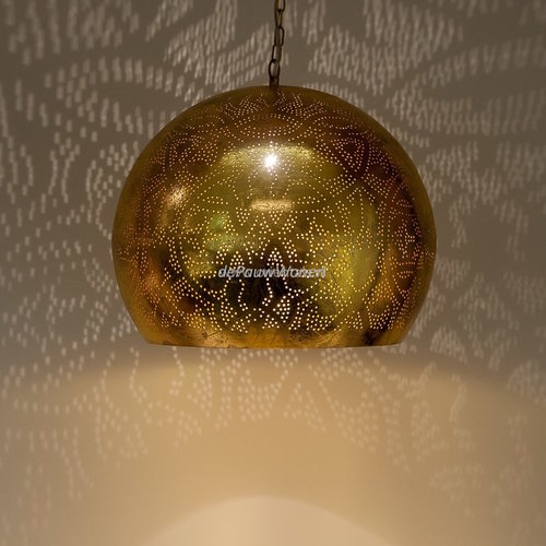 Hanglamp Ameera goud bol - in 2 diameters verkrijgbaar