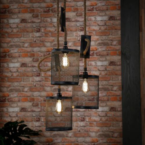 Hanglamp Zayne getrapt + 3 led gloeilampen cadeau