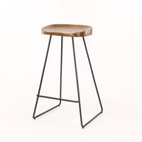 Barstoel houten zitting VPE 4