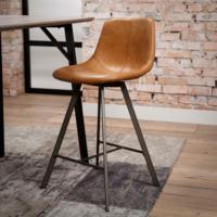 Barstoel zig-zag plat frame VPE 4 in 2 kleuren