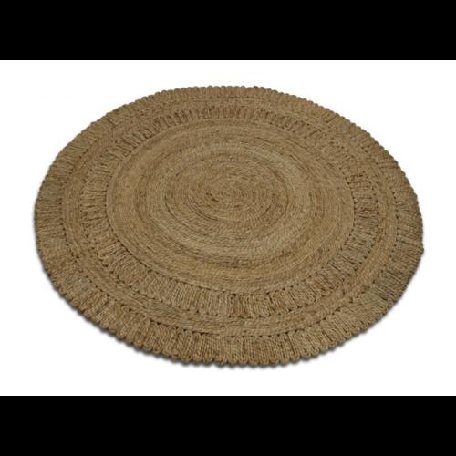 Vloerkleed jute naturel rond 120cm