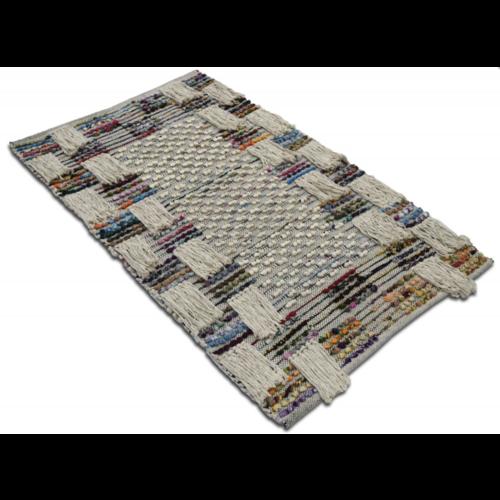 Vloerkleed recycled katoen met franjes